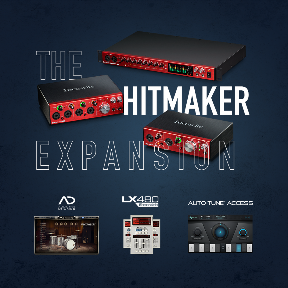 Focusrite: The Clarett Hitmaker Expansion