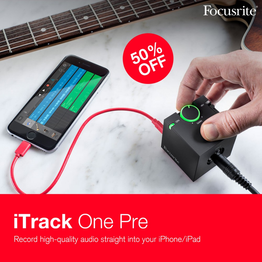 iTrack One Pre - Audio Interface for your iPhone/iPad