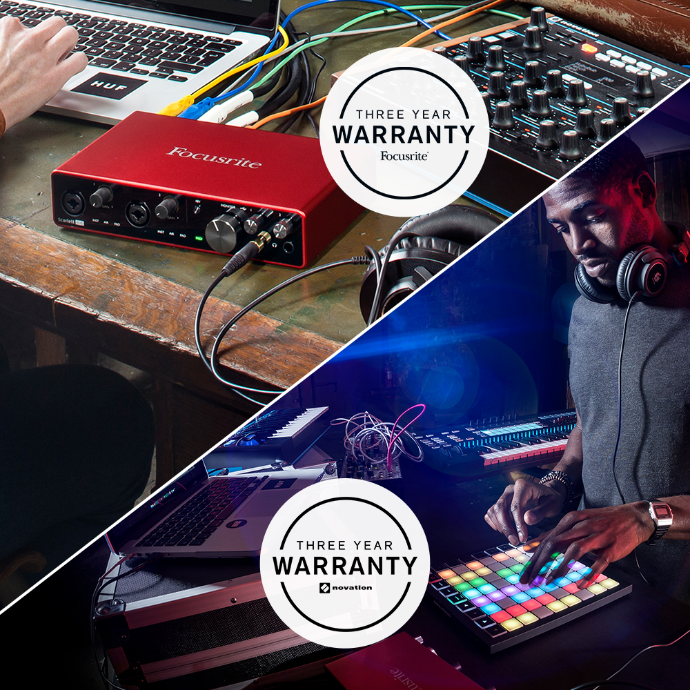 3-year Warranty On All Focusrite & Novation Products