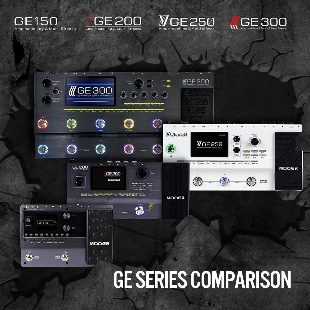 Mooer GE Series Comparison