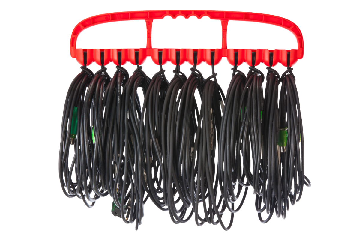 Cable Wrangler – Versatile Cable Management Tool – Red