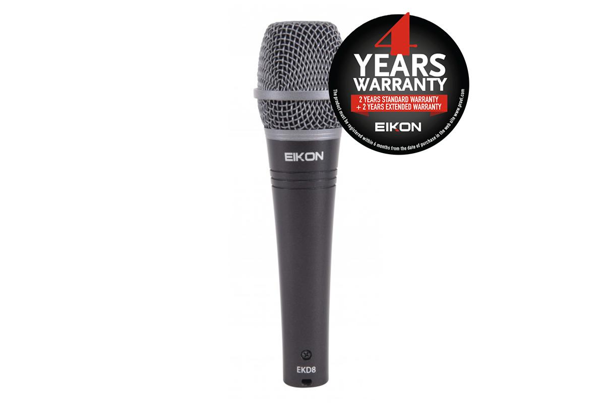 Eikon EKD8 - Dynamic Super-Cardioid Professional Microphone