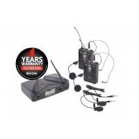 Eikon WM700DH - Dual Channel PLL UHF Wireless Belt-pack Microphone System