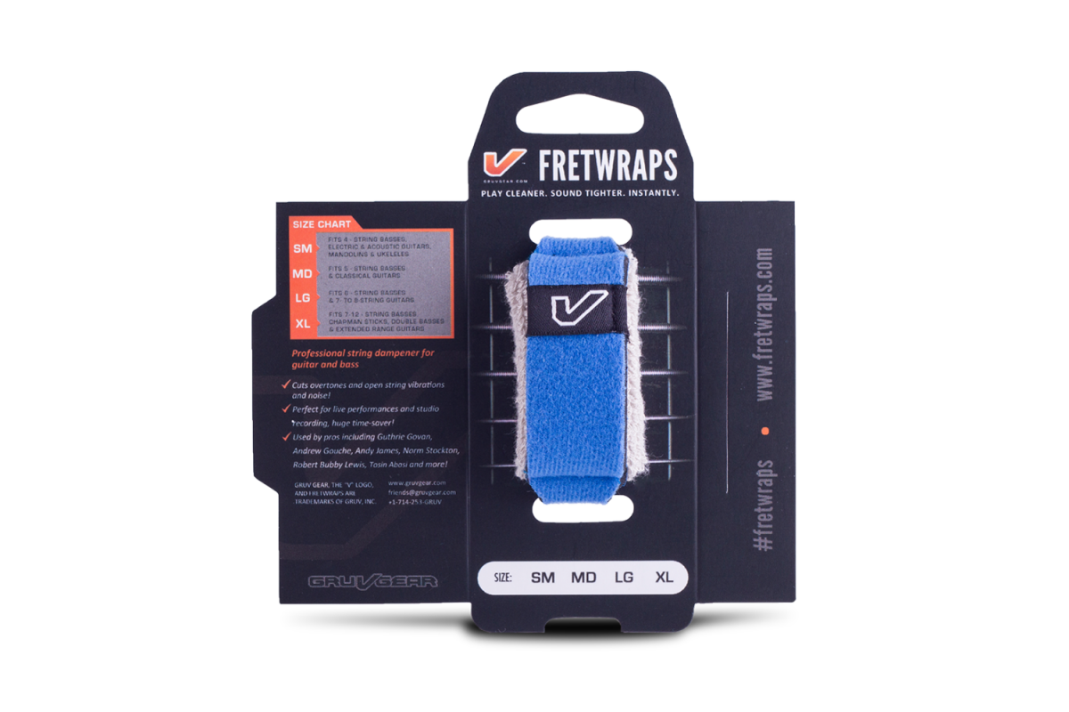Gruv Gear FretWraps String Muters - Blue (Small)