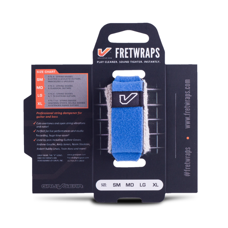 Gruv Gear FretWraps String Muters - Blue (Medium)