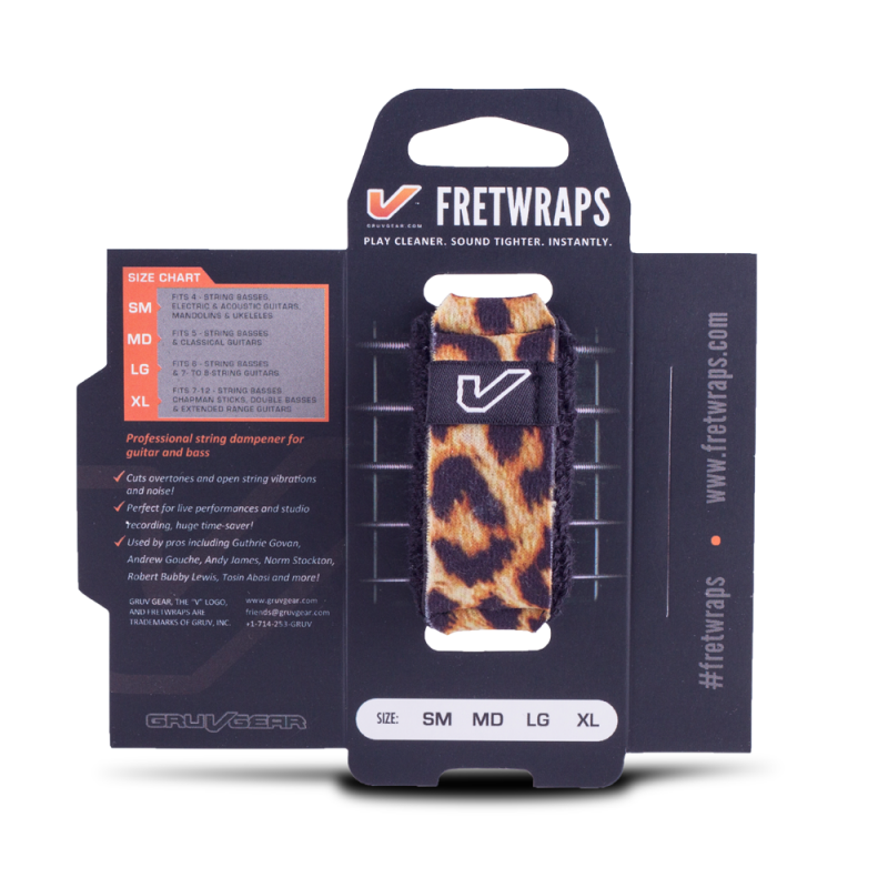 Gruv Gear FretWraps String Muters - Wild Leopard (Medium)