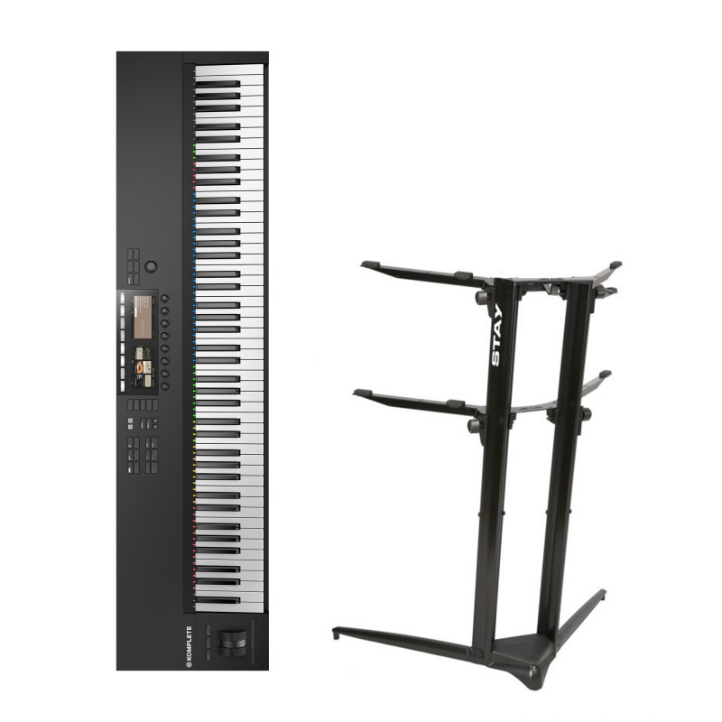 Native Instruments Komplete Kontrol S88 MK2 + Stand Piano Stand 1200/02 (Black)