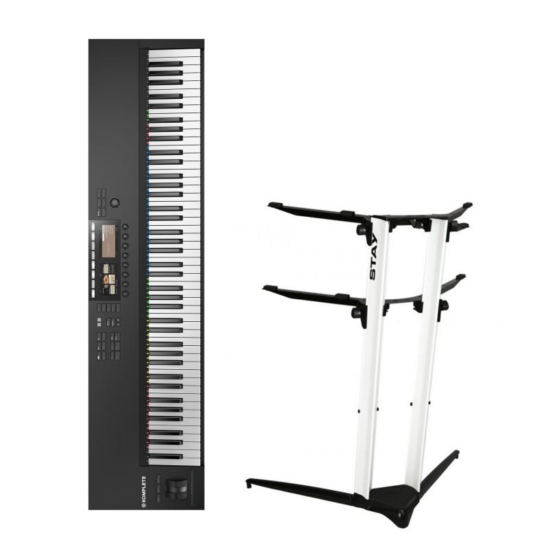 Native Instruments Komplete Kontrol S88 MK2 + Stand Piano Stand 1200/02 (White)